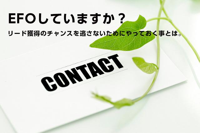 入力フォーム最適化(EFO)