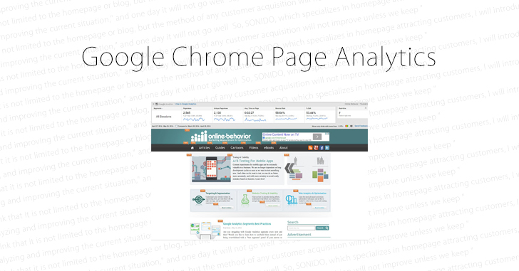 Google Chrome Page Analytics