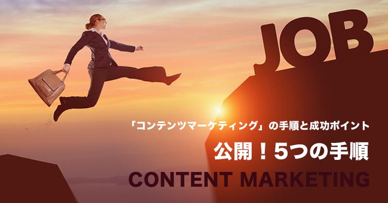 公開!コンテンツマーケティングの手順と成功方法